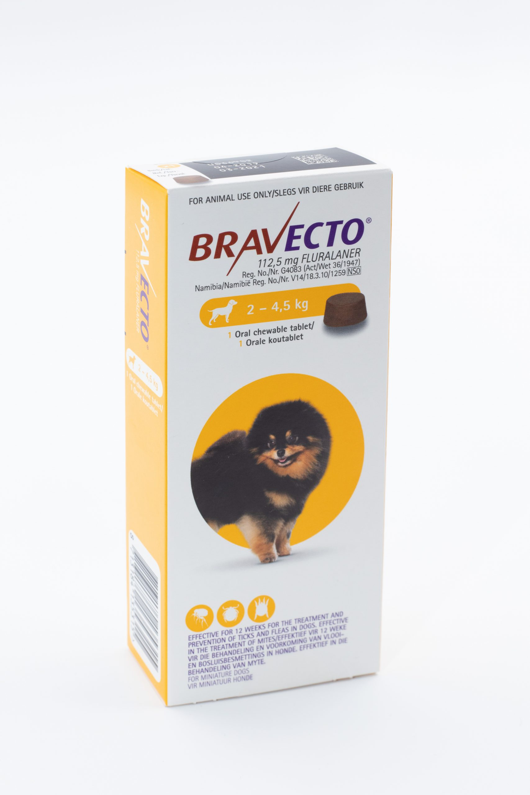 Bravecto Tablet Dog 2-4.5kg Toy Yellow