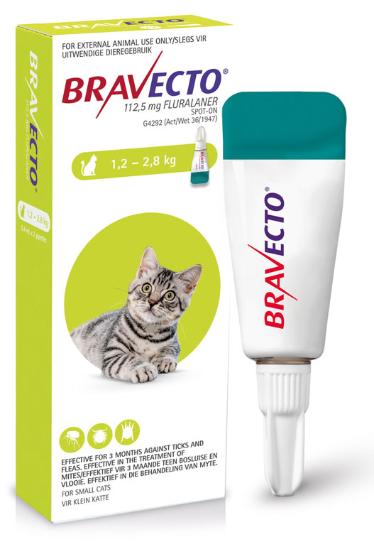 Bravecto Spot-On Cat 1.2-2.8kg Small